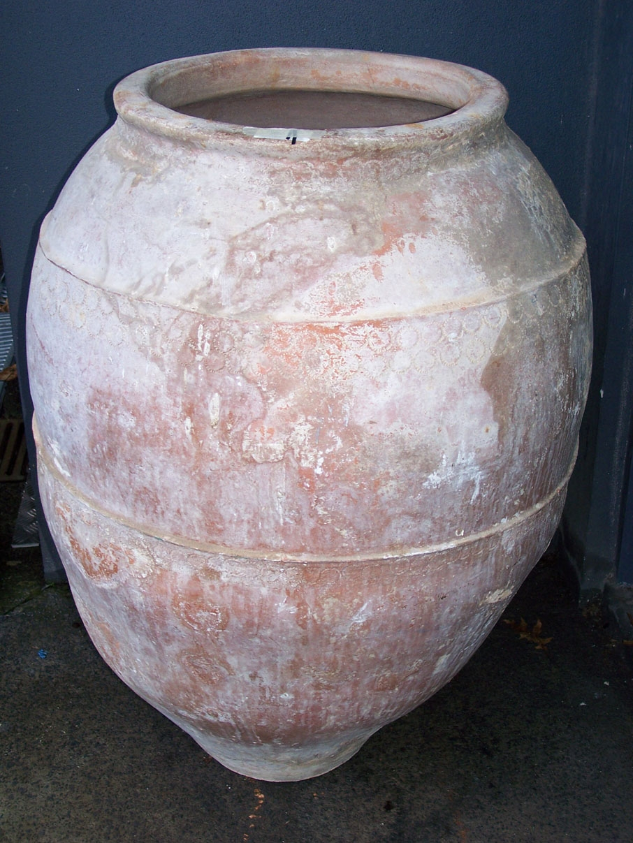 Image Of Spanish Antique Terracotta Wine Pot