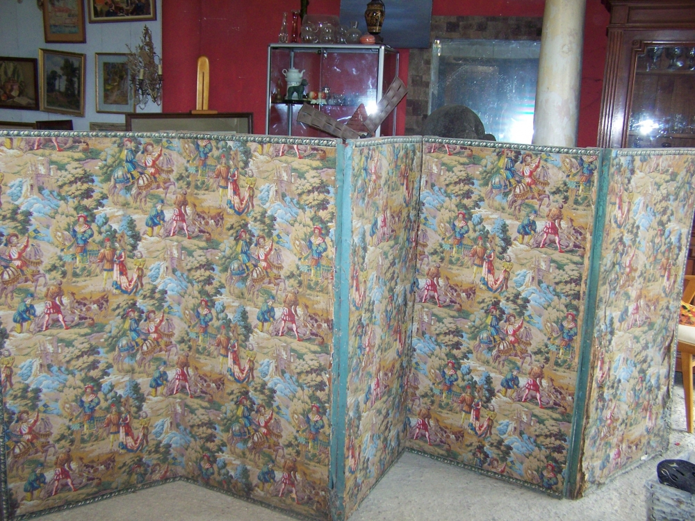 Image of French antique 5 panel screen