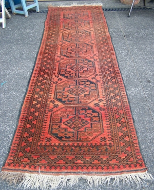 Image of Turkoman hand knotted runner