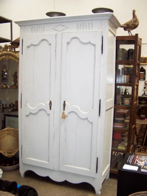 Image of French Armoire 19th Century C1850 painted