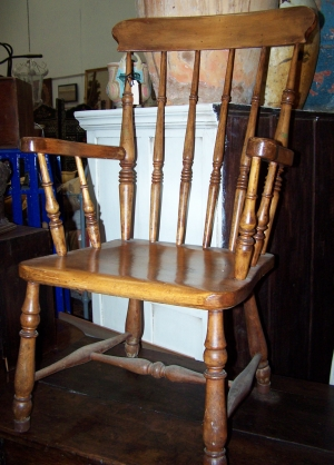 Image of Victorian Elm & Beech carver chair