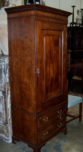 Image of Georgian Mahogany wardrobe 1 door & drawer