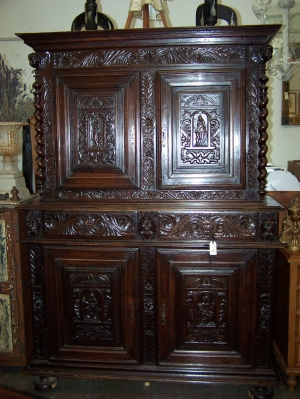 Image of French Walnut Buffet deux Corp 17th Century