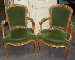 Image of French  salon chairs