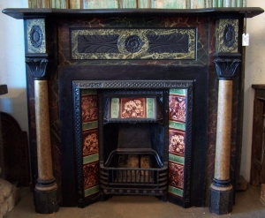 Image of Fire Mantelpiece & register
