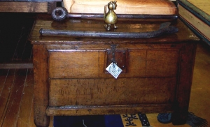 Image of Spanish 18th Century Oak Panelled Coffer