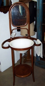 Image of Bentwood Washstand and Mirror
