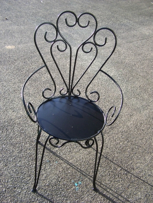 Image of French style iron galvanised painted chairs