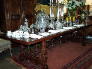 Image of Spanish Oak & Iron Dining table