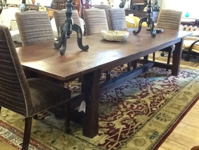 Image of Oak Refectory Dining Table Large