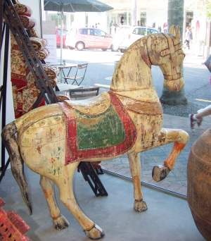 Image of Horse parade horse wooden sculpture