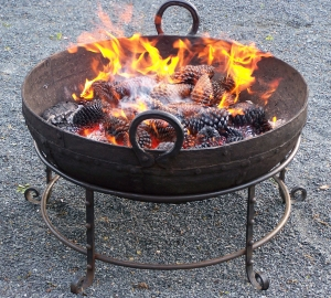 Image of Kadia iron fire bowl on stand