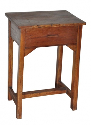Image of School table with one drawer vintage teak