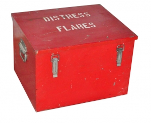 Image of Distress Flare metal box vintage