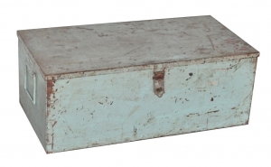Image of Antique painted metal storage chest