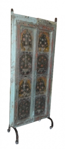 Image of Antique pair of ancient wooden painted doors