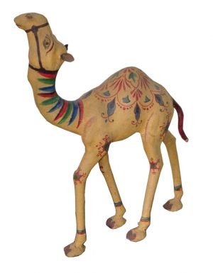Image of Camel sculpture of papier mache & hessian