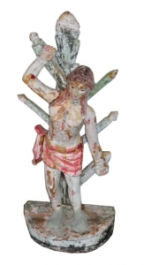 Image of St Sebastian antique wooden painted statue
