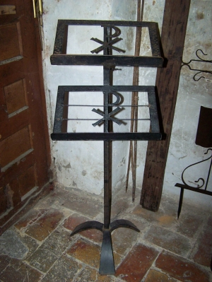 Image of Lecturn Spanish Antique adjustable in metal
