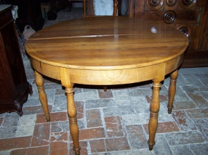 Image of French Cherry wood demi-lune  fold over table