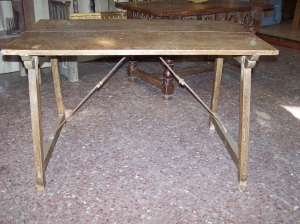 Image of Spanish 18th Century Oak Campaign Table