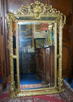 Image of French early 19th Century gilt mirror
