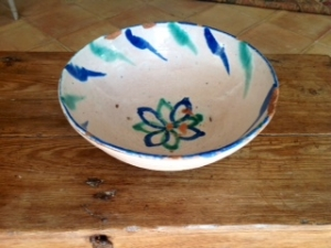 Image of Spanish Grenada pottery bowl