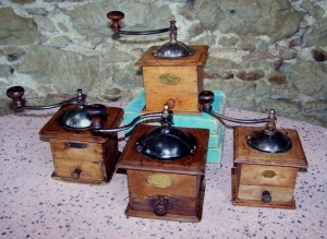 Image of French 19th century coffee and spice grinders