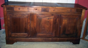 Image of French walnut antique buffet